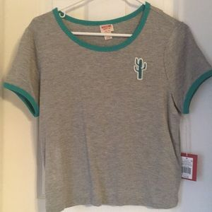 NWT Cropped Cactus Top From Mossimo SZ Medium